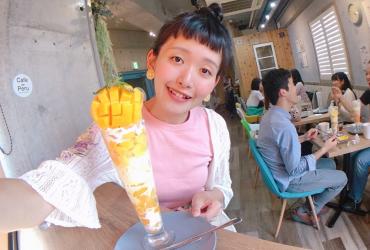 日本大學生集散地 高田馬場推薦咖啡店 Cafe de Peru 新鮮水果夢幻聖代