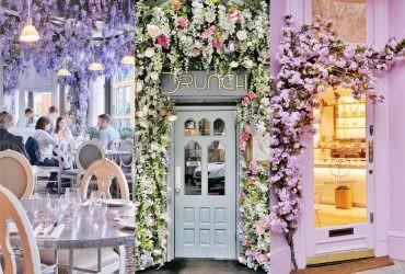 出差時去的 3 間英國倫敦的花卉咖啡|Aubaine|DRUNCH|Peggy Porschen|倫敦自由行打卡咖啡廳